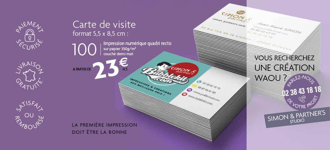 Besoin d'imprimer des cartes de visite au meilleur prix ?