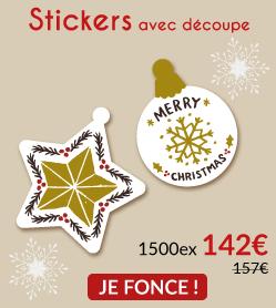 1500 stickers avec découpe 142€ (au lieu de 157€)