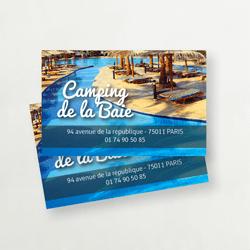 carte de visite camping