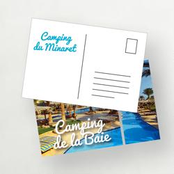 carte postale camping
