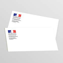 carte de correspondance administration et mairie