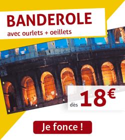 Banderole dès 18€