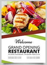 flyer communication pour restaurant