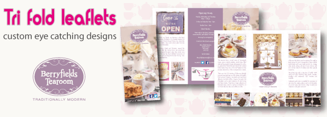 design and printing of folded leaflets