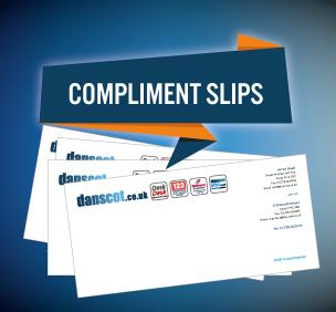 graphic design branding compliment slips