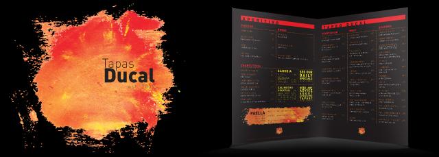 design and printing of menus