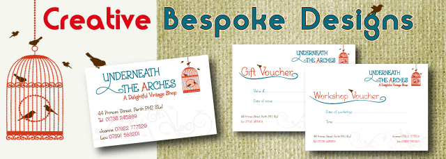 designed and printed cards and vouchers