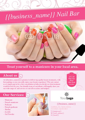 beauty leaflet template design