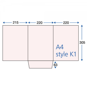 400gsm Matt Laminated 3-Panel A4 Folders