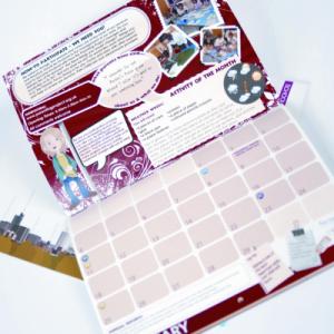Digital Doubler 14 Month Calendars : 100gsm Silk