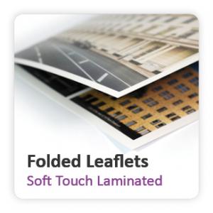 Soft Touch Laminated Folded Leaflets