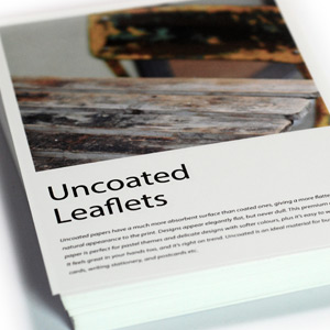 Uncoated Leaflets