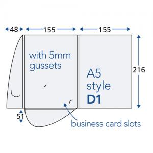 Soft Touch Interlocking Presentation Folders