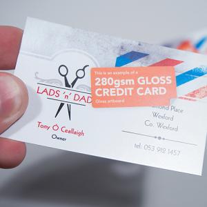 280gsm Credit Cards