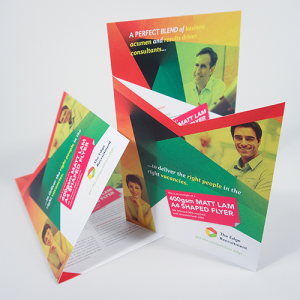 400gsm Matt Laminated Shaped Flyers