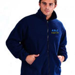 Embroidered Zip-up Fleeces