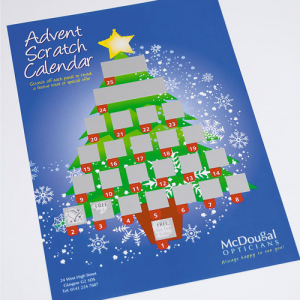 Advent Scratch Calendar