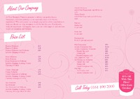 Salon A4 Folded Leaflets - Back