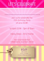 Birthday Party A6 Leaflets - Back