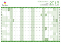 Wallplanner Green 2016 by Templatecloud