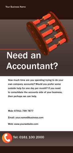 Accountants 1/3rd A4 Leaflets by Mr Neil Watson