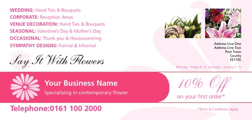 Florist 1/3rd A4 Leaflets by Peter Stewart 