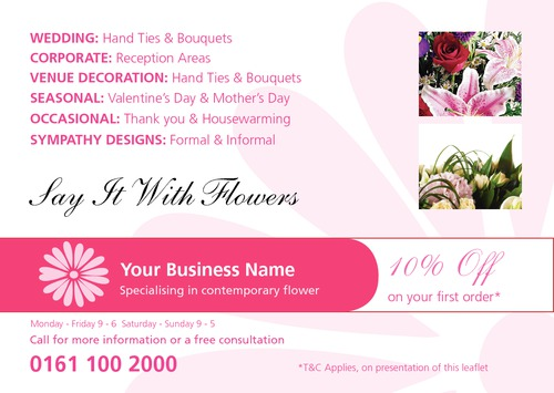 Florist A5 Leaflets by Peter Stewart 