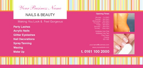 Beauty Salon 1/3rd A4 Leaflets by Peter Stewart 
