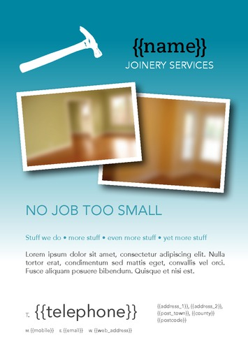 Joiner A5 Leaflets by Alan Gunning 