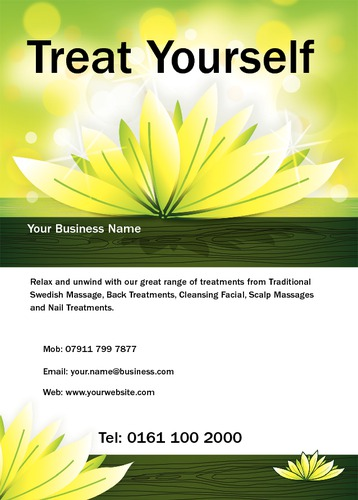 Beauty Salon A6 Leaflets by Mr Neil Watson 