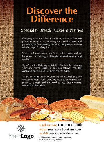 Bakery A6 Leaflets by Paul Wongsam