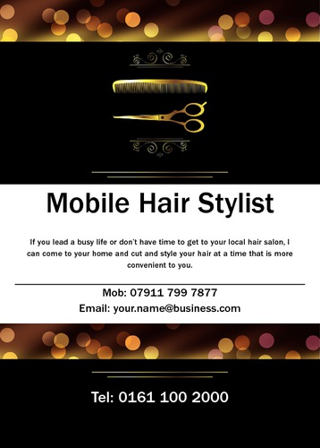 Hair A6 Leaflets by Mr Neil Watson