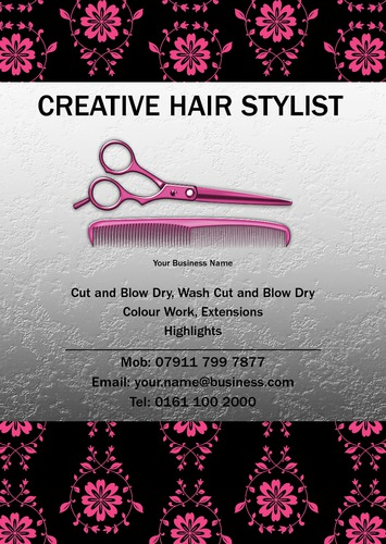 Hair A5 Flyers by Mr Neil Watson 