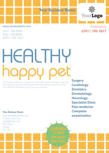 Pet Care A4 Leaflets by TemplateCloud Team