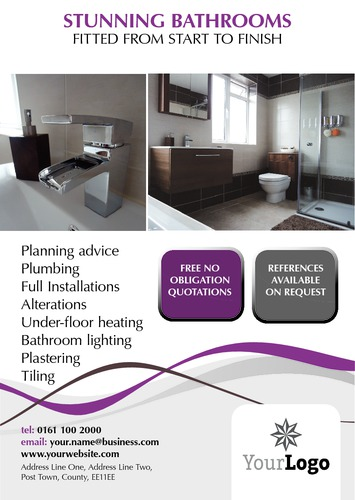 Bathroom Fitters A5 Leaflets by Paul Wongsam