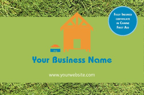 Dog Care Business Card  by C V 