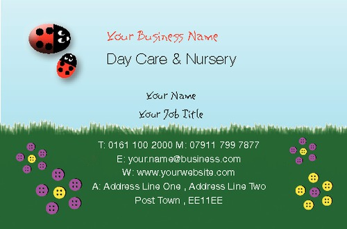 Nursery Business Card  by Miss Laura Marples