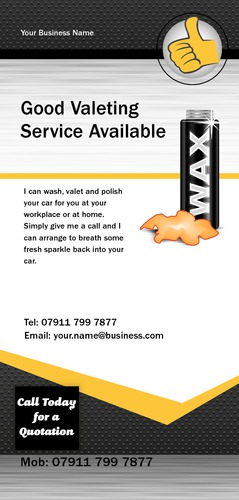 Car Wash 1/3rd A4 Leaflets by Mr Neil Watson