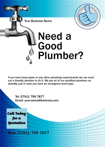 Plumber A6 Leaflets by Mr Neil Watson