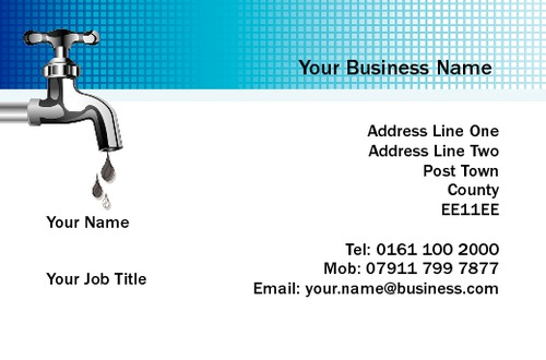 Plumber Business Card  by Mr Neil Watson 