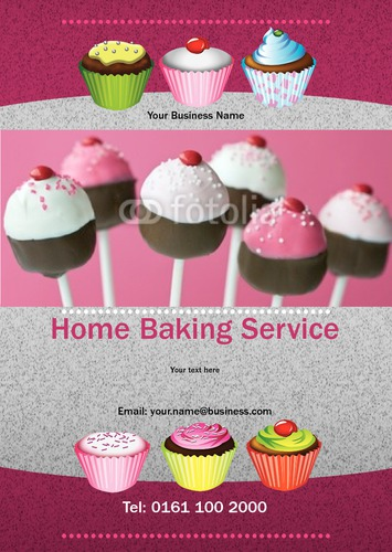 Cake Decorators A5 Leaflets by Mr Neil Watson