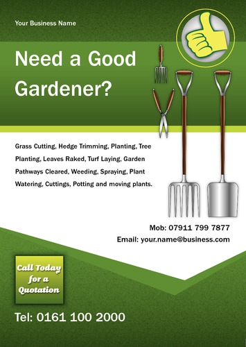 Garden Maintenance A5 Leaflets by Mr Neil Watson 