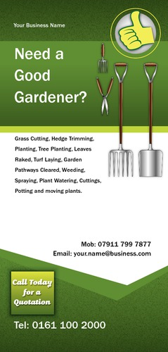 Garden Maintenance 1/3rd A4 Leaflets by Mr Neil Watson
