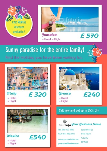Travel Agents A4 Flyers by C V