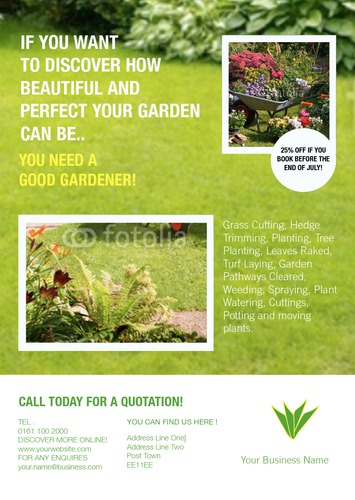 Garden Maintenance A5 Flyers by C V
