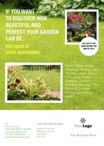 Garden Maintenance A6 Flyers by C V