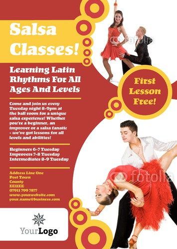 Dance A4 Leaflets by Rebecca Doherty