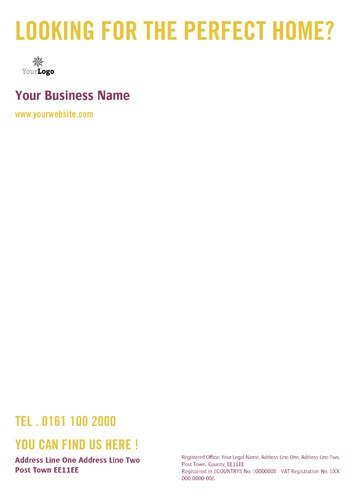 Estate Agents A4 Stationery by C V