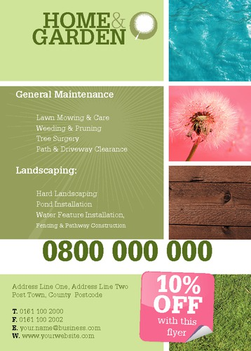 Garden Maintenance A6 Leaflets by Tony Elmore