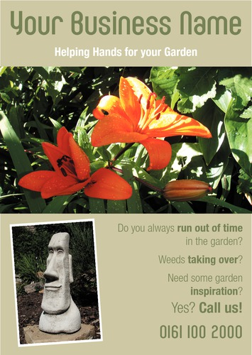 Garden Maintenance A5 Leaflets by Ashley Moore 